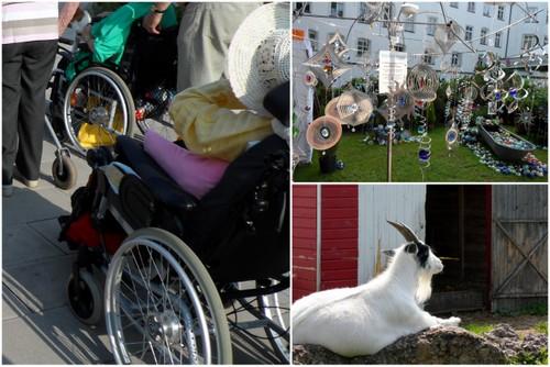 Auf den GArtentagen mit den Bewohnern des Pflegeheims
