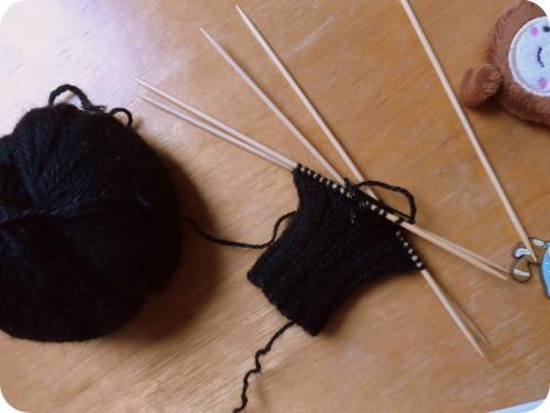 Stricken mit einem Bambus-Nadelspiel ... ein Traum