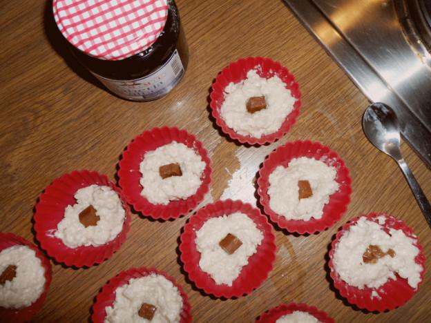 Rezept: Veganer Milchreis mit Nougatkern und Blaubeer-Marmelade fürs Buffet