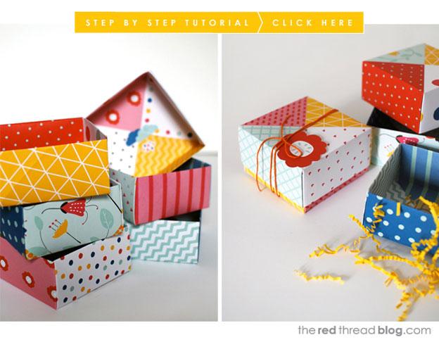 Bunte Origami-Boxen von The Red Thread