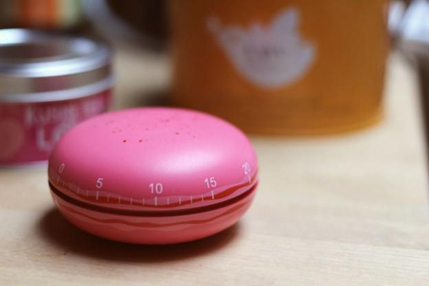 Pinke Macaron Küchenuhr