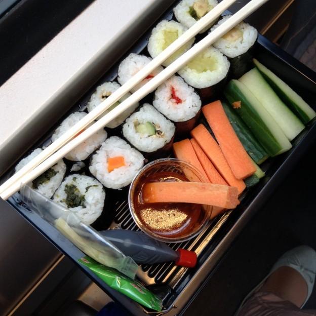 Veganes Mittagessen: Veggie Sushi