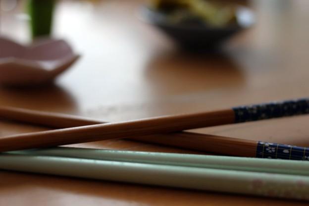Japanisches Frühstück: Stäbchen