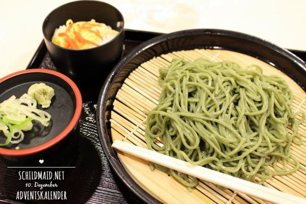 Matcha Soba: Japanische Grüntee Buchweizennudeln