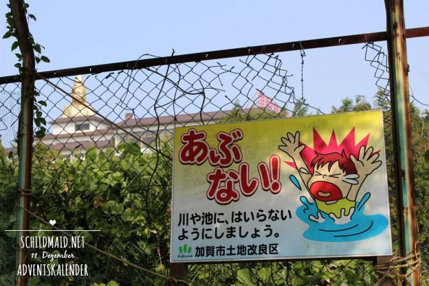Achtung, Gefahr! Ein japanisches Warnschild...