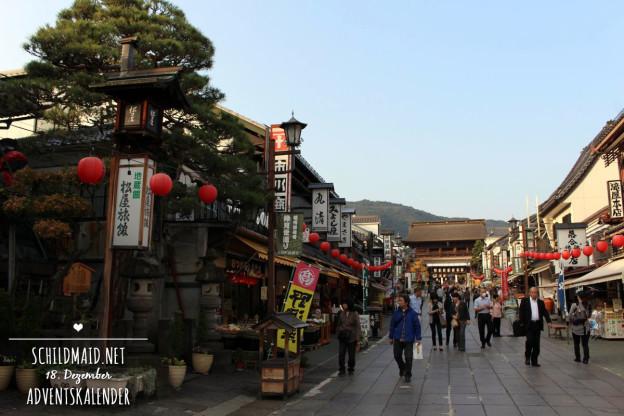 Einkaufsstraße zum Zenkō-ji Tempel in Nagano