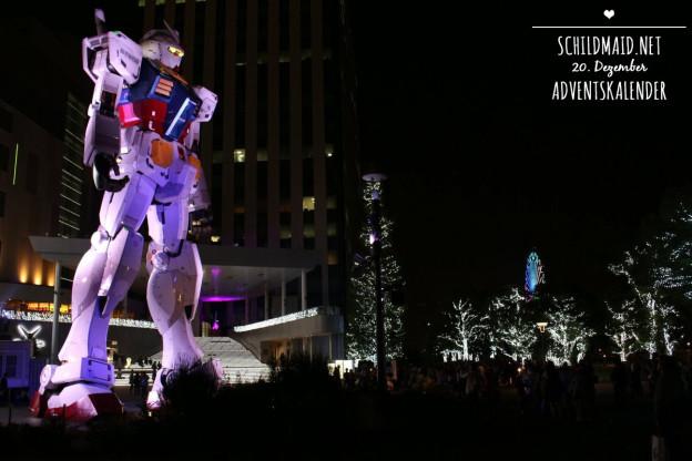 Ein lebensgroßer Gundam auf der Vergnügungsinsel Odaiba vor Tokio